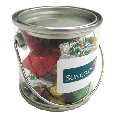 Picture of Small PVC Bucket Filled with Christmas C