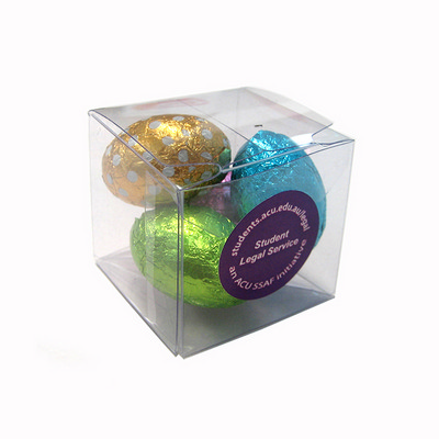 Picture of Cube Filled With Mini Easter Eggs X4 Egg