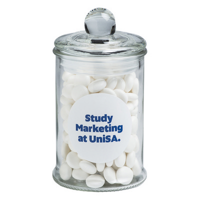Picture of Small Apothecary Jar Filled with Mints 1