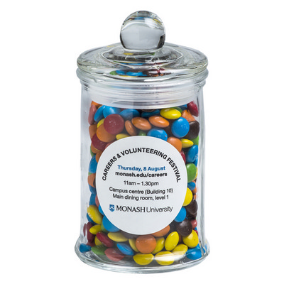 Picture of Small Apothecary jar filled with Mini M&