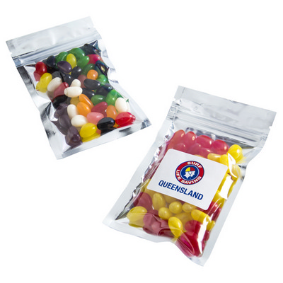 Picture of Silver Zip Lock Bag with Jelly Beans 50G