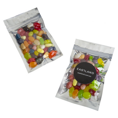 Picture of Silver Zip Lock Bag WITH JELLY BELLY Jel