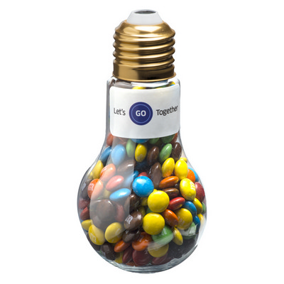 Picture of Light Bulb with M&Ms 100G