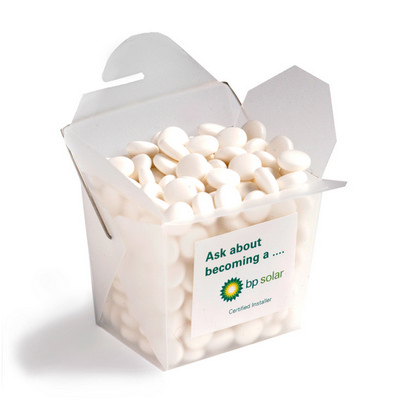 Picture of Frosted PP Noodle Box Filled with Mints