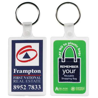 Picture of White Rectangular Soft PVC Keytag