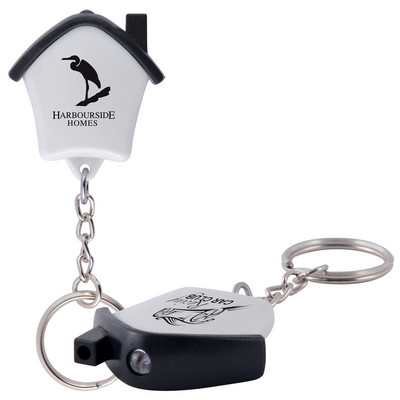 Picture of Mini House Flashlight Keytag
