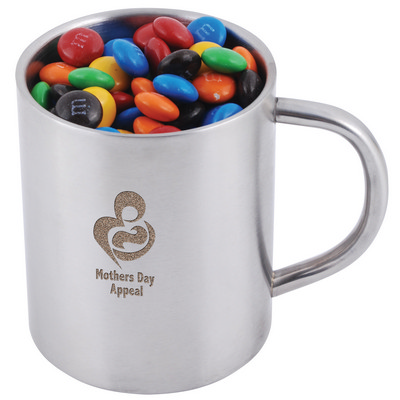 Picture of M&M's in Double Wall Stainless Steel Bar