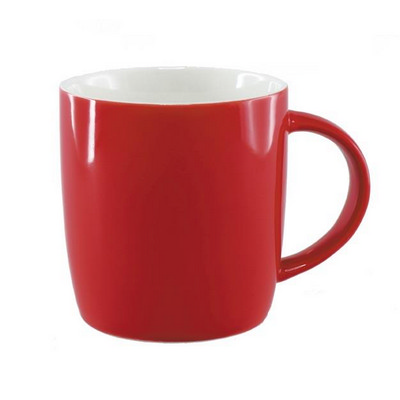 Picture of Ariston New Bone Barrel Mug - Red / WhiteLigher than Ceramic - Stylish design - F