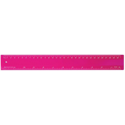 Picture of Ruler 30cm Fluro Pink