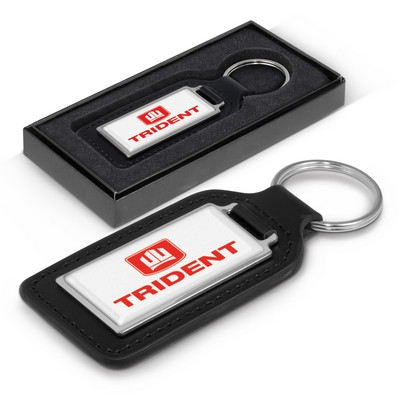 Picture of Baron Rectangular Leather Key Ring
