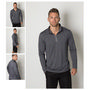 Mens Cooldry Heather Fabric 1/2 Zip Long