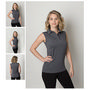 Ladies Cooldry Heather Fabric Sleeveless