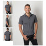 Mens Cooldry Heather Fabric Polo