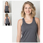 Ladies Cooldry Heather Fabric Razor Back