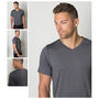 Mens Cooldry Heather Fabric V Neck T-Shi