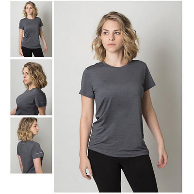 Picture of Ladies Cooldry Heather Fabric Round Neck