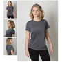 Ladies Cooldry Heather Fabric Round Neck