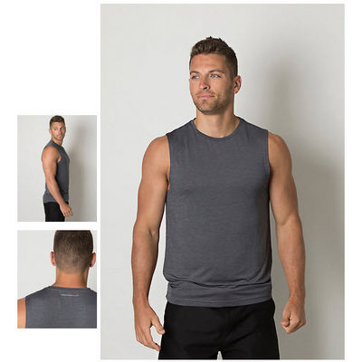 Picture of Mens Cooldry Heather Fabric Sleeveless T