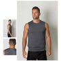 Mens Cooldry Heather Fabric Sleeveless T