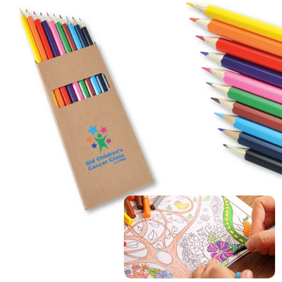 Picture of Coloured Full Length Colouring Pencils P