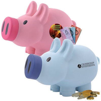 Picture of Priscilla Pig (Pink) and Patrick Pig (Bl
