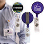 Retractable Name Badge Holder with Metal