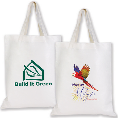 Picture of Short Handle Bamboo Tote Bag - 100 GSM
