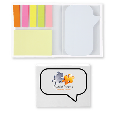 Picture of Speech Bubble Notepad with Flags