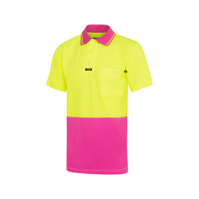 Picture of Pink Microfibre Polo Shirt S/S