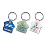 Flexi Resin Key Ring - House