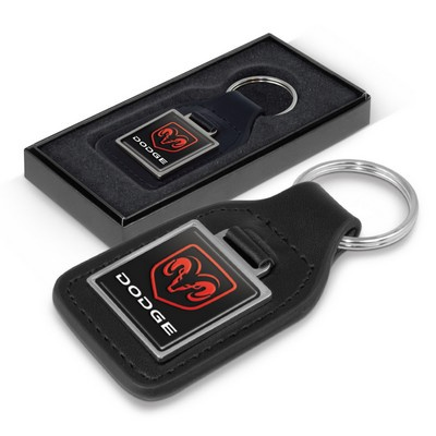 Picture of Baron Square Leather Key Ring