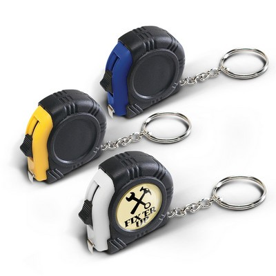 Picture of Rubber Tape Measure Key Ring