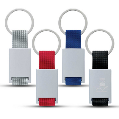 Picture of Aluminum Key Tag With Web Strap