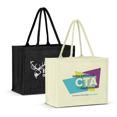 Picture of Torino Jute Tote Bag - Colour Match