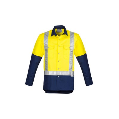 Picture of Mens Hi Vis Spliced Industrial Shirt - Shoulder Taped