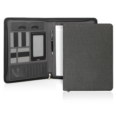 Picture of Ebony Executive Tech A4 Compendium w/Zip