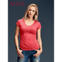 Anvil Women's Tri-Blend V-Neck Tee Colou
