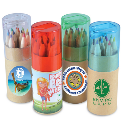Picture of Coloured Pencils in Cardboard Tube