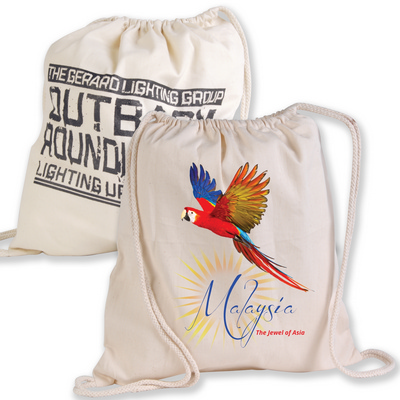 Picture of Calico Library Back Pack with Drawstring