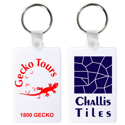 Picture of Rectangular Flexible PVC Keytag