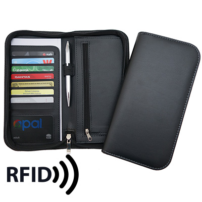 Picture of Deluxe Zip Travel Wallet with RFID Prote