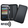 Deluxe Zip Travel Wallet with RFID Prote