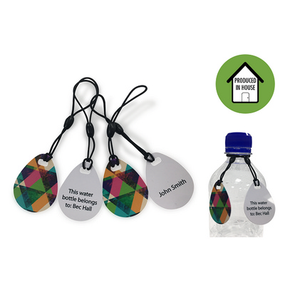 Picture of Digital Print Keytag Tear Drop Matt Fini