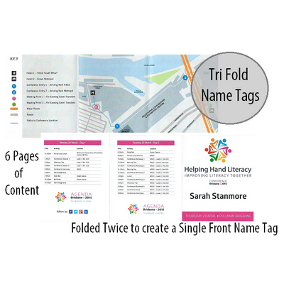 Picture of Tri Fold Personalised Name Tag and  Prog