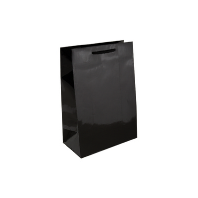 Picture of Baby Black Gloss Laminated Paper Bag