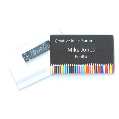 Picture of Business Card Size Rigid Badge Holder wi