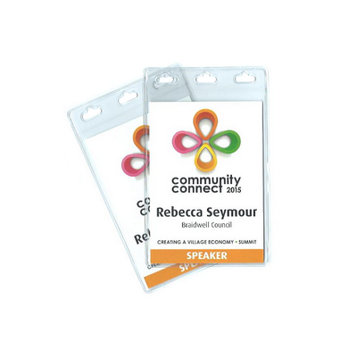 Picture of Medium Portrait Name Tag Fully Produced-