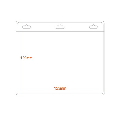 Picture of Large A6 Landscape Badge Holder with 3 s