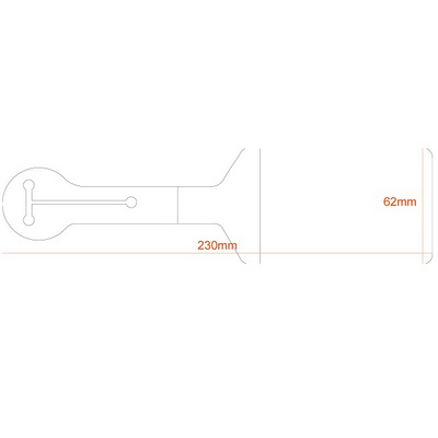 Picture of Flexible PVC Luggage Tag Clear