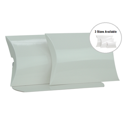 Picture of Large White Gloss Pillow Box Printed